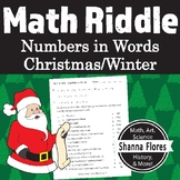 Christmas Math Riddle - Numbers Written in Words - Fun Math