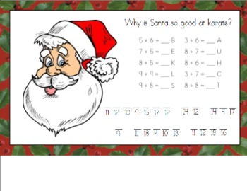 Christmas Math Riddle for Smart Board