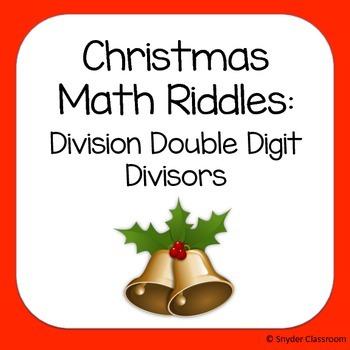 Christmas Long Division Math Riddles: Double Digit Divisors