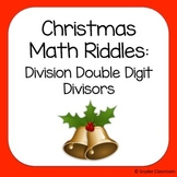 Christmas Long Division Math Riddles: Double Digit Divisors