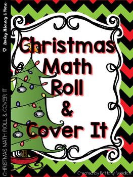 Christmas Math Roll It, Cover It