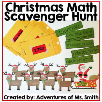 Christmas Math Scavenger Hunt