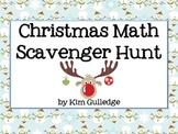 Christmas Math Scavenger Hunt - 6.RP.3; 6.NS.1; 6.NS.2; 6.NS.3 Around the Room