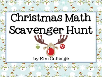 Christmas Math Scavenger Hunt - 6.RP.3; 6.NS.1; 6.NS.2; 6.NS.3 Around the Room
