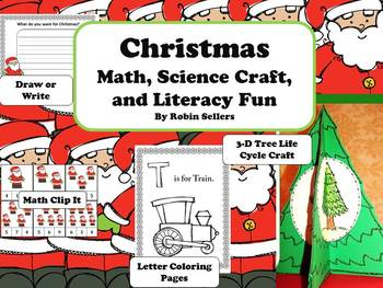 Christmas Activities {Math, Science Craft, and Literacy Fun Centers}