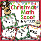 4th Grade Christmas Math Scoot - 4th Grade Christmas Activities