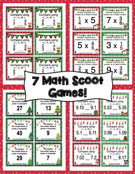 4th Grade Christmas Math Scoot - 4th Grade Christmas Activities