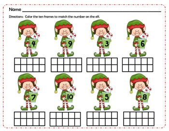 Christmas Math Sheet