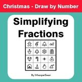 Christmas Math: Simplifying Fractions - Math & Art - Draw