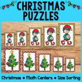 Christmas Math Centers | Size Sorting