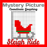 Christmas Math - Sleigh Mystery Picture Graph Coordinates