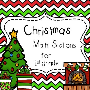 Christmas Math Station & Bins