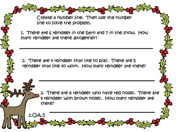 Christmas Math Stations- Common Core Focused Centers