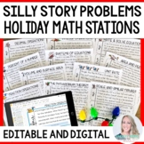 Christmas Math Stations : Silly Stories!