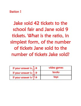Christmas Math Story Fun - Ratios and Proportions