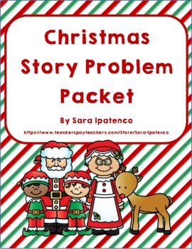 Christmas Math Story Problem Packet