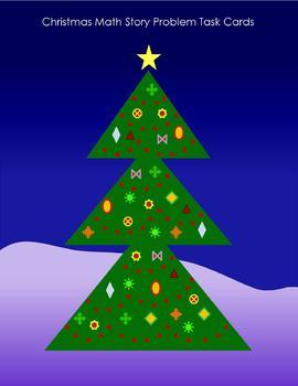 Christmas Math Story Problem Task Cards