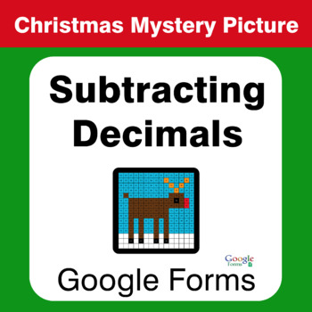 Christmas Math: Subtracting Decimals - Mystery Picture - Google Forms