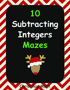 Christmas Math: Subtracting Integers Maze