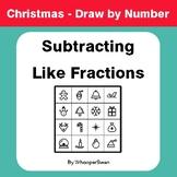 Christmas Math: Subtracting Like Fractions - Math & Art -
