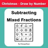 Christmas Math: Subtracting Mixed Fractions - Math & Art -