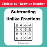 Christmas Math: Subtracting Unlike Fractions - Math & Art