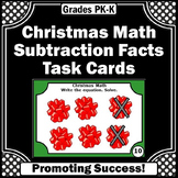Kindergarten Christmas Math Activities, Subtraction with Pictures Task Cards