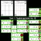 Christmas Math Subtraction - Missing Subtrahends Task Cards