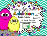 Christmas Math Task Cards for 4th Grade: Addition: Math Centers: Math Workshop