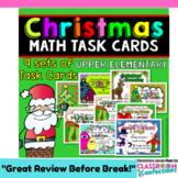 Christmas Math: Centers: 4th Grade Christmas Math Task Cards: Math Workshop
