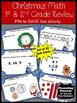 Christmas Math Task Cards for 1st 2nd Grade Centers Games & Activities