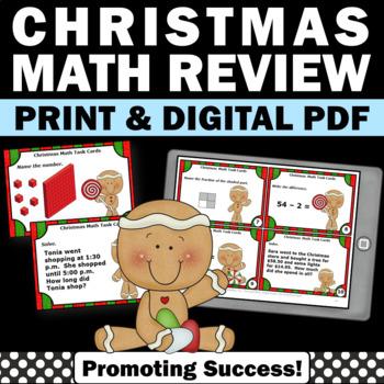 Christmas Math Activities 2nd Grade 3rd Grade Review Task