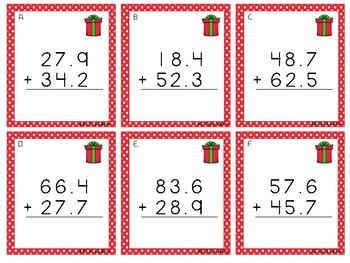 Christmas Math Task Cards - Grade 5