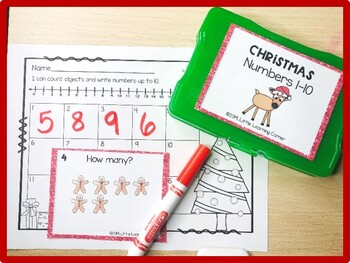 Christmas Math Task Cards Numbers to 10
