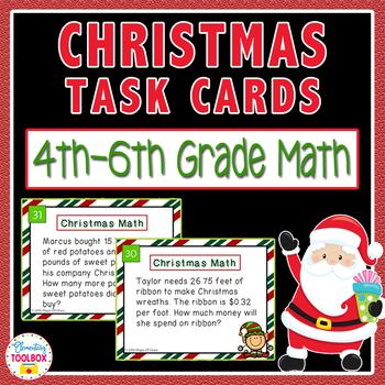 Christmas Math Task Cards-Real Life Word Problems