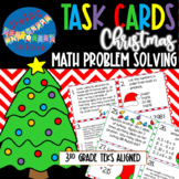 Christmas Math Task Cards SCOOT 3rd and 4th grade TEKS CCSS