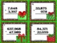 Christmas Math Task Cards for 4th Grade: Subtraction: Math