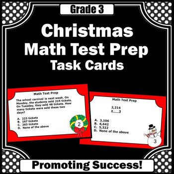 Christmas Math Activities, 3rd Grade Math Review Games, SCOOT