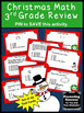 40 Christmas Math Task Cards, 3rd Grade Math Centers, SCOOT Game