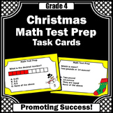 4th Grade Christmas Math Activities & Games w/ 4th Grade Math Review Task Cards