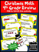 Christmas Math Centers 4th Grade Task Cards for Review Gam