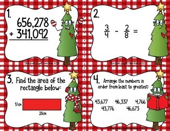 Christmas Math Task Cards (or Scoot!)