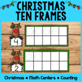 Christmas Math Centers | Ten Frames | Counting Mats | Play