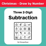 Christmas Math: Three 2-Digit Subtraction - Math & Art - D