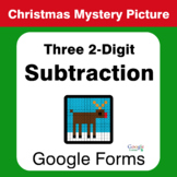 Christmas Math: Three 2-Digit Subtraction - Mystery Picture - Google Forms
