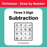 Christmas Math: Three 3-Digit Subtraction - Math & Art - D
