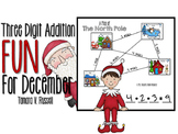 Christmas Math- Three Digit Addition {Holiday Edition}