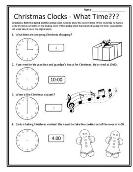 Christmas Math 1st Christmas 1st Time Math Christmas Activities Math Time First
