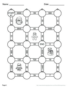 Christmas Math: Time Conversion Maze
