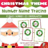 Christmas Math Tracing Number 1-20 Cards for PreK & K [TeKa Kinderland]